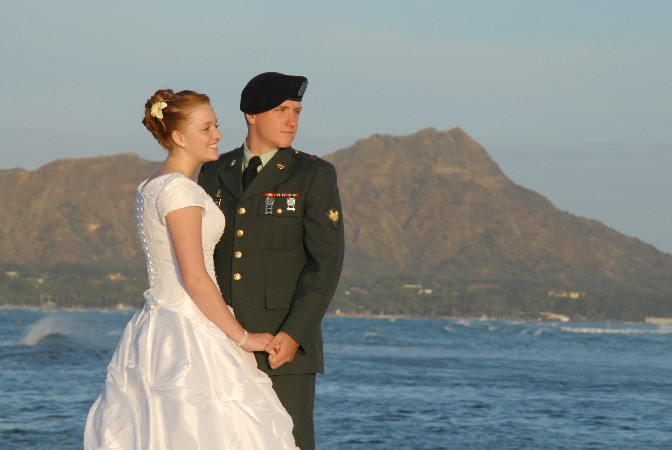 Magic island for Honolulu wedding dress rental