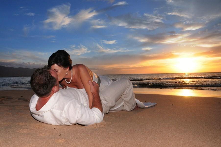 Papailoa Beach Wedding North S Sunset