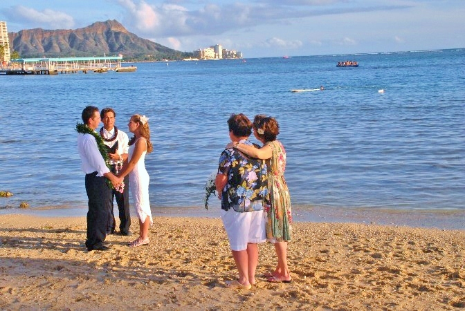 Waikiki Beach Wedding Photos